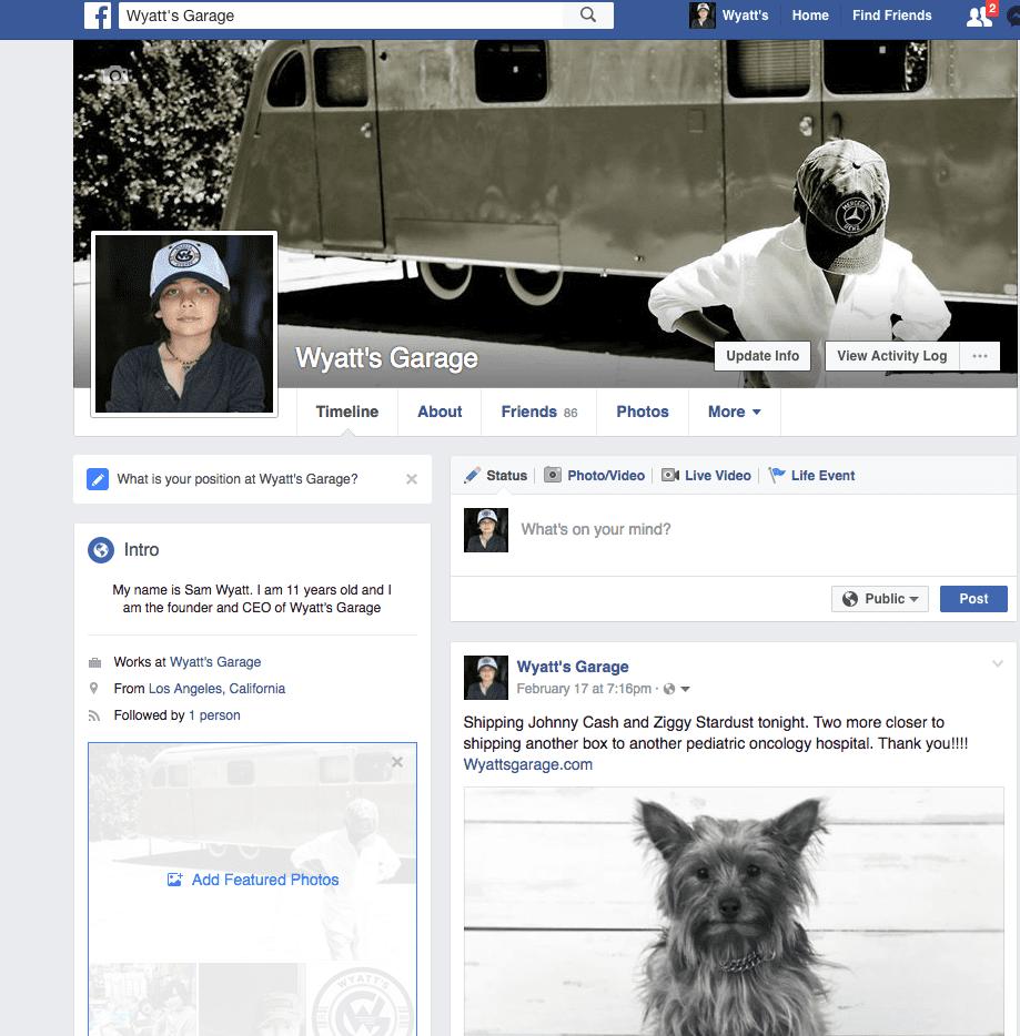 Wyatt's Garage Facebook
